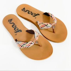 REEF Mallory Scrunch Woven Sandals 6